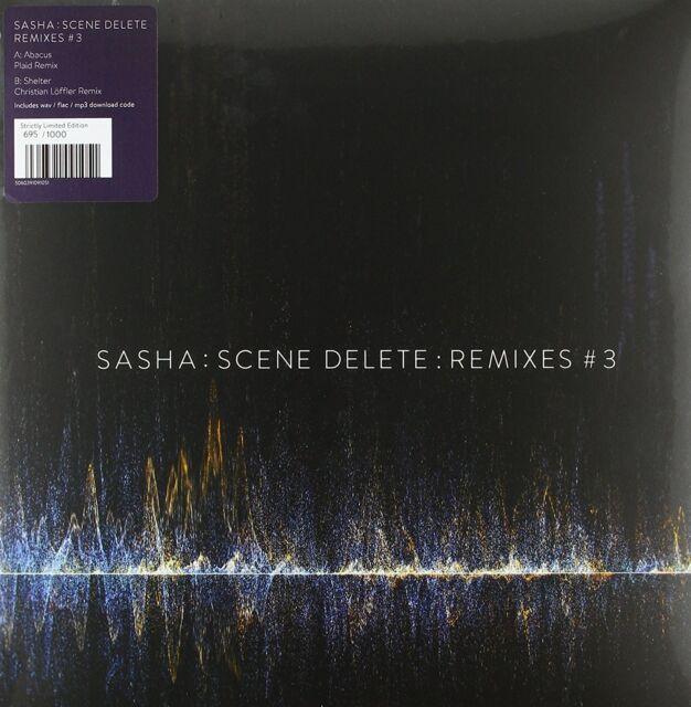 Sasha-SCENE Delete: remixé 3 (Limited White 10''+mp3) VINYL EP NEUF