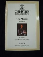 CHRISTIE'S LOWE AUCTION CATALOGUE 1985 THE MEDICI
