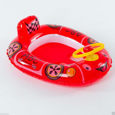 Baby Pool Float Red Car Boat Inflatable Swim Ring Summer Spring Water Fun Toys