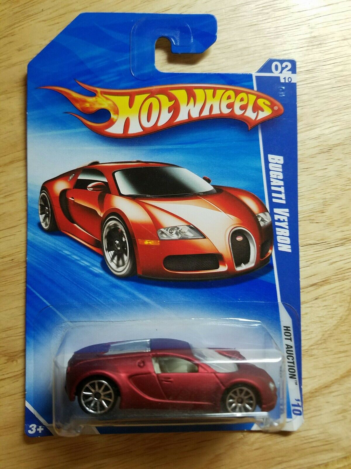 Hot wheels 2010 heiß auktion bugatti veyron 02   10 rote satin -   wal - mart exclusives