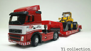 1:50 Volvo Low Bed Trailer + Volvo L150C Loaders Set  TOYS Boys&Girls HONGWELL