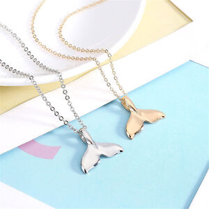 Charn-Women-Silver-Gold-Whale-Tale-Pendant-Necklace-Fish-Sealife-Chain-Jewelry