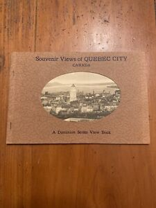 1930-039-s-Souvenir-Views-of-Quebec-City-Canada-A-Dominion-Series-View-Book
