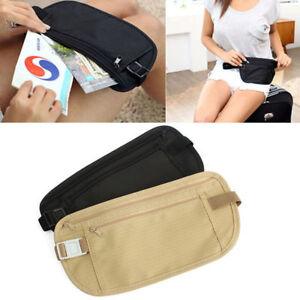 1PC-Travel-Pouch-Hidden-Passport-ID-Holder-Compact-Security-Money-Waist-Belt-Bag