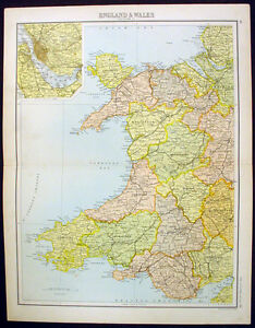 1890-Bartholomew-Antique-Map-Wales-inset-of-Liverpool