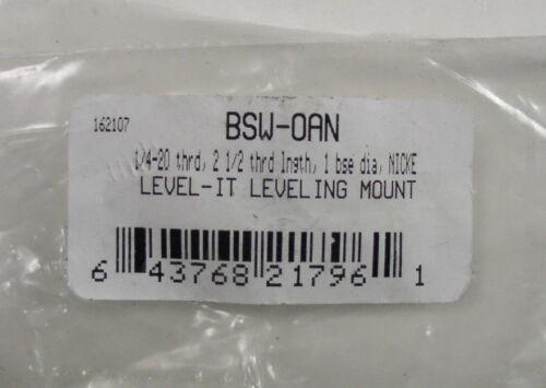 """Gibraltar 81551822 1//4-20 x 2-1//2/"""" 1000 Lb Load Leveling Mount 1/"""" Base 4"""