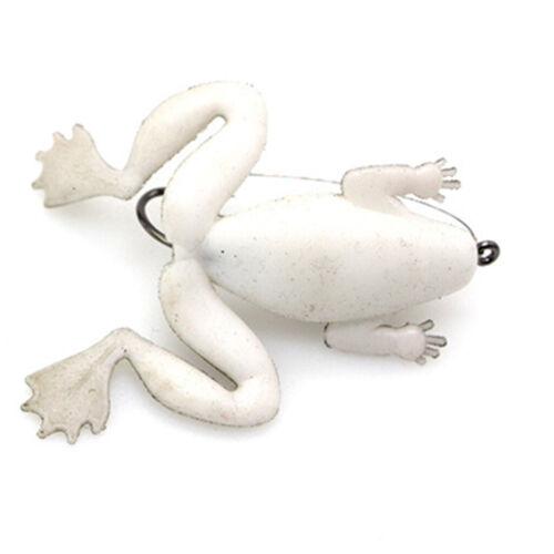 5 stücke frosch angelköder weichen topwater frosch crankbait mit haken