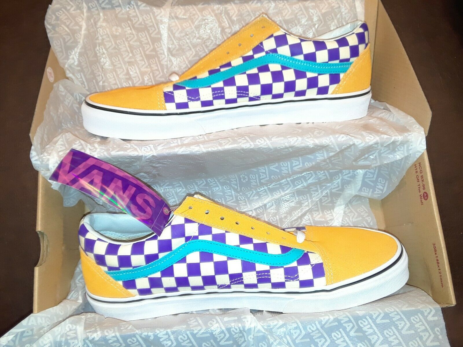 VANS Old Skool thermochrome Checker Neuf violet Taille 12 Magenta