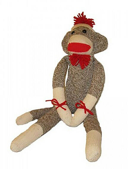 27af436b BROWN SOCK MONKEY Ozark Mountain Kids NEW ROCKFORD RED HEAL SOCKS Made in  USA
