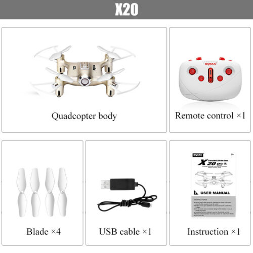 Syma X20 RC Quadcopter Headless 6-Axis Gyro Drone Helicopter 3D Flip Multicopter