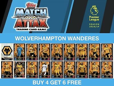 Match Attax 18//19 Rui Patricio Wolverhampton Wanderers tarjeta base Nº 344