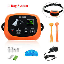 Wireless Electric 1 Dog Fence No-wire Pet Containment System Rechargeable US
