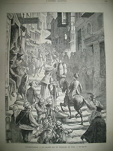 TURQUIE-CONSTANTINOPLE-RUE-DE-PERA-SALONIQUE-ASSASSINAT-CONSULS-GRAVURES-1876