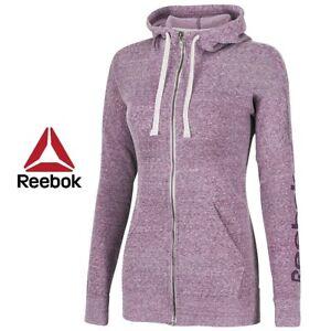 Details zu Reebok Crossfit Womens Elements Full Zip Hoodie Hooded Sweatshirt Free Post