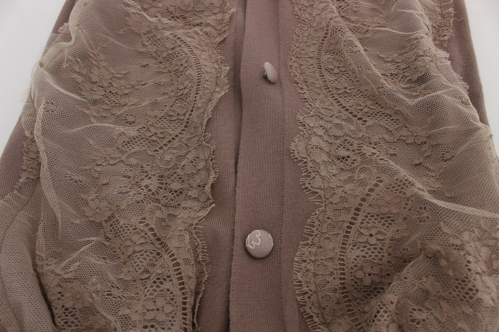 NEW  360 PINK MEMORIES Sweater Cardigan Purple Lace Lace Lace Cotton Top IT42   US8   M af7d73