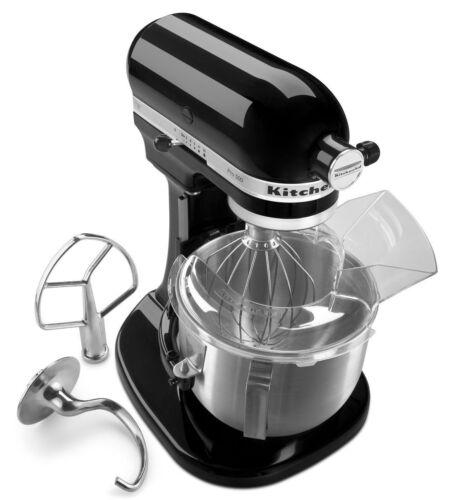 New Kitchenaid Heavy Duty Pro 500 Stand Mixer Lift Ksm500psob Metal 5 Qt Black Countertop Mixers Small Kitchen Appliances