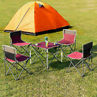 Portable Folding Table Chairs Set Outdoor Camp Beach Picnic W/ Carrying Bag