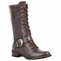 Timberland Women S Brown Bethel Buckle Knee High Mid Lace