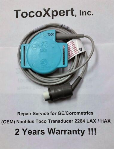 GE Corometrics 2264LAX TOCO Nautilus Transducer $79 Ultimate 2 Year Warranty OEM