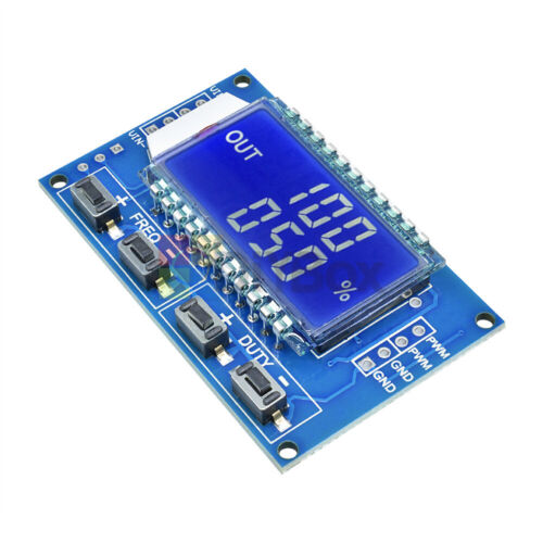 PWM Pulse Frequency Square Wave Signal Generator Trigger Switch LCD Time Delay