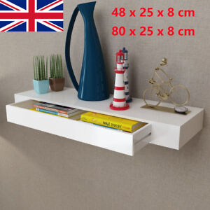Floating-Shelf-Shelves-with-1-Drawer-Display-Unit-Wall-Mounted-Book-DVD-Storage