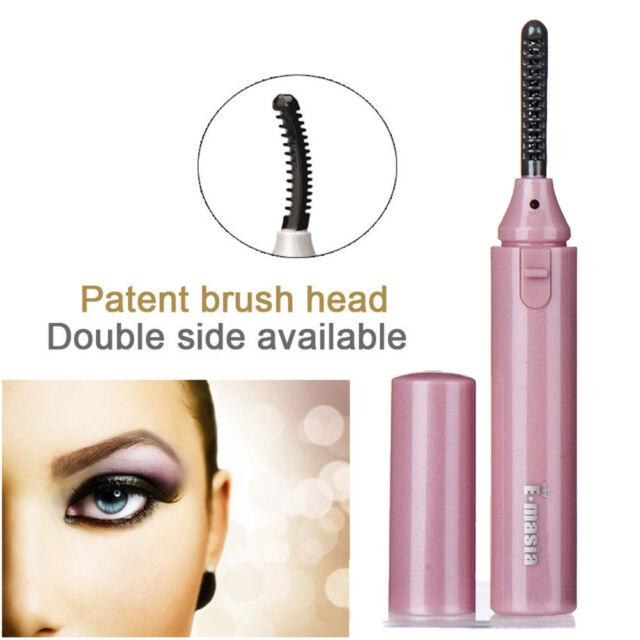 Portable Hot Electric Heated Eyelash Curler Eye Lashes Long Lasting
