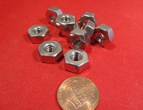 """1//4/""""-20 x 1//2/"""" Width x 15//64/"""" H.-100 Pcs 18-8 Stainless Steel Heavy Hex Nut RH"""