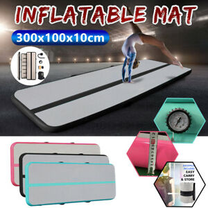 3x1m-Air-Track-Gymnastics-Tumbling-Taekwondo-Floor-Home-Mat-Inflatable-Pumpe