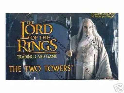 Lotr TCG  CCG The Two Towers FACTORY SEAL CASE of 12 Booster lådaes låda