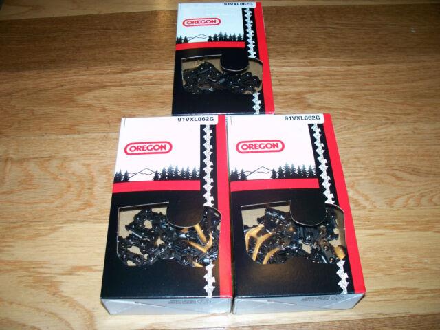 "Qty 4 Oregon 91PX062G S62 18-Inch 18/"" Semi Chisel Chain Saw Craftsman Homelite"