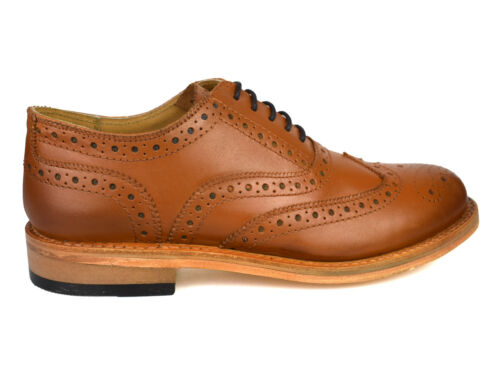 brogue Goodyear formale marron Hommes Welted 0310 pelle en en Premium c3q54jRLA