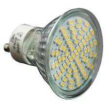 3W 70SMD LEDs GU10 Warmweiß 230V LED Leuchtmittel Strahler Lampe mit Schutzglas