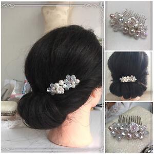 Ondego Bijoux De Cheveux Mariée Bijoux Peignes Haarkette Bandeau Haardraht Rose-afficher Le Titre D'origine