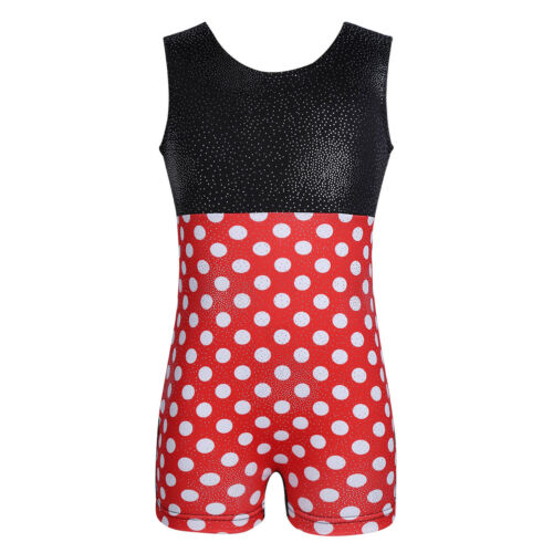Kid Girl Gymnastics Ballet Dance Dress Sleeveless Cutout Leotards Mesh Dancewear