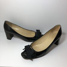 812265863d item 2 Kate Spade Women's Black Patent Leather Bow Pumps Chunky Brown Heels  Size 9.5M -Kate Spade Women's Black Patent Leather Bow Pumps Chunky Brown  Heels ...
