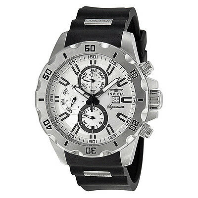 Invicta Signature II Silver-tone Dial GMT Stainless Steel Mens Watch 7480