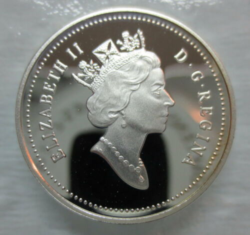 1999 CANADA 5 CENTS PROOF SILVER NICKEL HEAVY CAMEO COIN