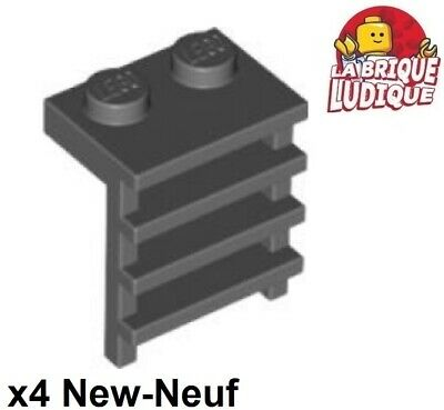 Lego 4x Plate Modified 1x2 with Handle on End gris f//dark bl gray 60478 NEUF