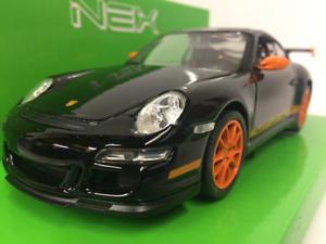 Porsche 911 911 911 Gt3 Rs (997) black Arancione Welly 22495 Scala 1 24 73a926