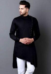 African Mens Kurta Men Dress Shirt Wear Cotton Traditional Bohemian Plain Solid Men\u2019s 100 Plus Loose Faishion Every Size Available