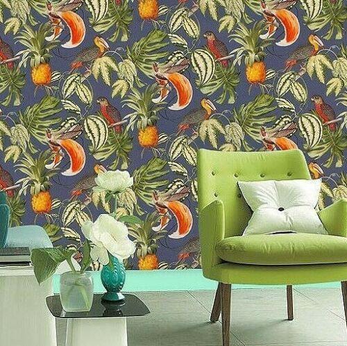 Parrot Washable Solid Vinyl Unusual Toucan Paradisio Wallpaper Jungle
