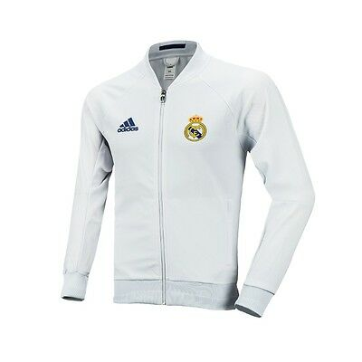 ADIDAS Real Madrid Felpa Bianca Allenamento Jacket WhiteTraining Full Zip AP1841