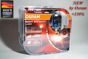 h4 p43t osram night breaker laser 130 64193nbl. Black Bedroom Furniture Sets. Home Design Ideas