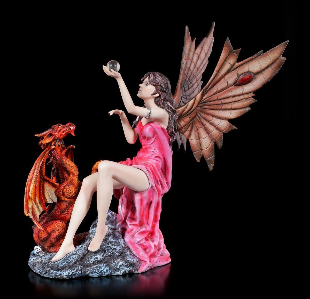 Figura Elfos - Salima con Roja Dragones - Laura Gruici Fantasy Hada Ball