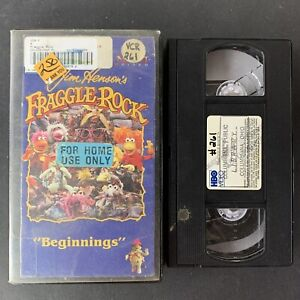 FRAGGLE-ROCK-BEGINNINGS-Jim-Henson-VHS-Tape-HBO-1986-Rare-OOP-Muppet-Video
