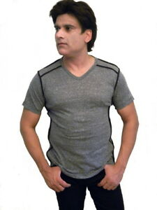 Mission-Clothing-Mens-Heathered-V-Neck-Shirt-Rocker-Shirt-Made-in-USA