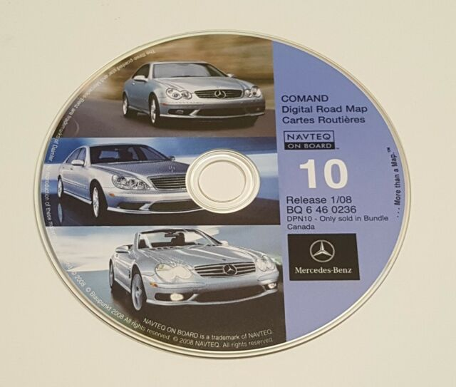 2003 2004 Mercedes Benz Sl600 Sl500 Sl55 Navigation Cd 10 Canada Map 08 Update