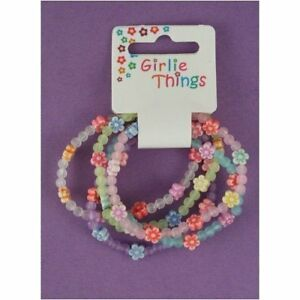 10-x-Flower-Bracelets-Girls-Party-Bag-Fillers-Loot-Toys