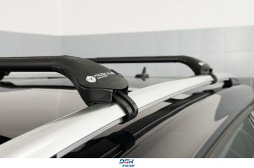 Für Citroen C5 Kombi 01-17 mit offener Dachreling Dachträger Alu schwarz