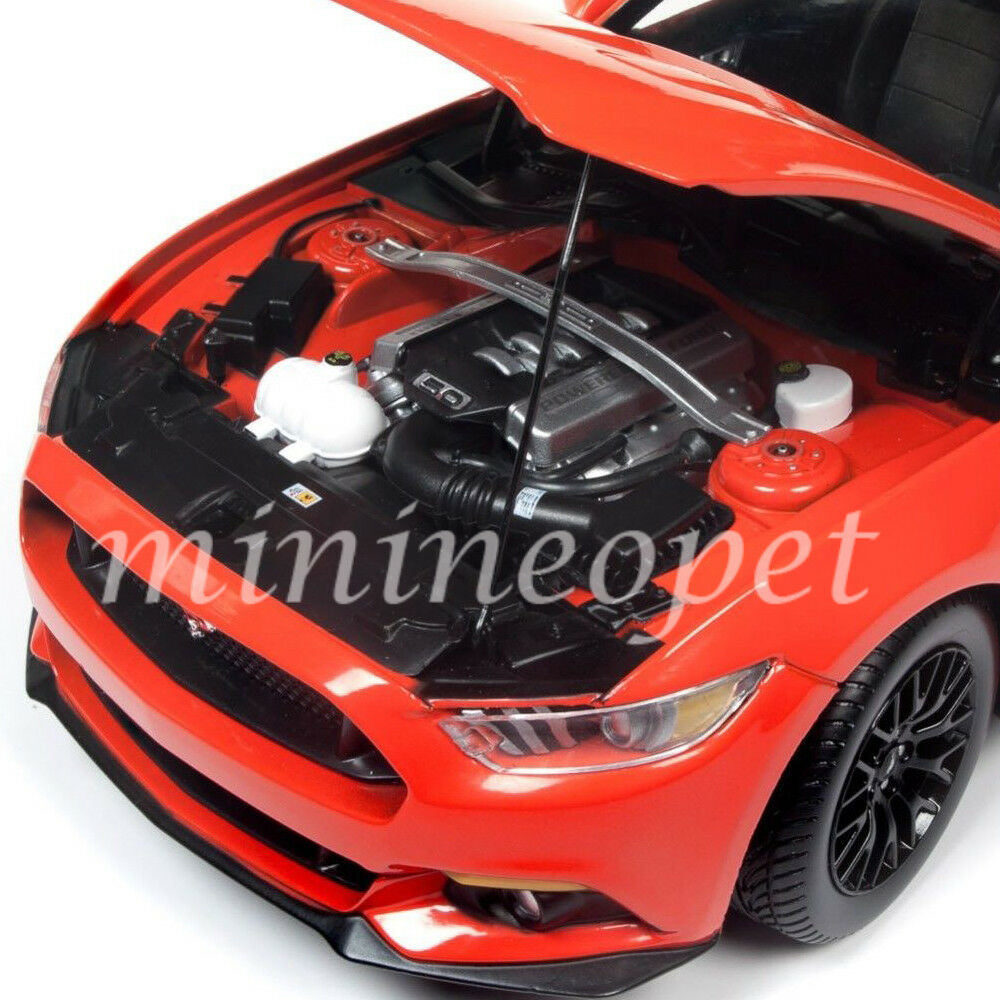 AUTOWORLD AW242 2016 FORD MUSTANG GT 5.0 COUPE 1 1 1 18 DIECAST MODEL CAR orange e94417
